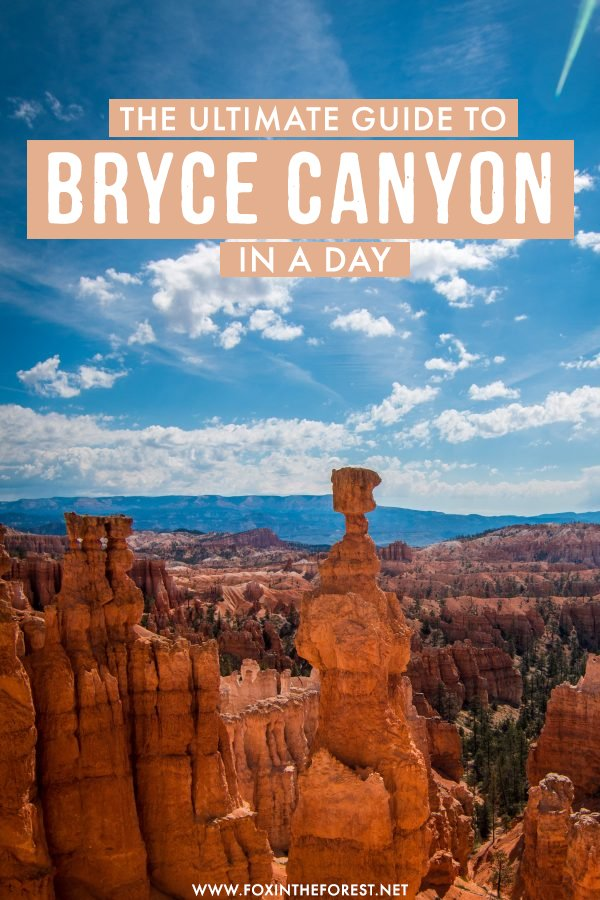 Want to visit Bryce Canyon on a day trip? If you only have one day to visit Bryce Canyon in Utah, this ultimate day trip guide has you covered! From the best things to do, cool viewpoints, trail and where to stay, this is the only travel guide you need to visit Bryce Canyon in a day! #Utah