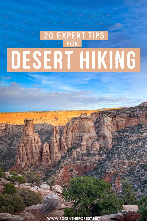 Thinking of doing your first desert hike? If you're wondering how to go about planning your adventure, I've gathered the ultimate expert guide to desert hiking with my top tips, packing list, and more!