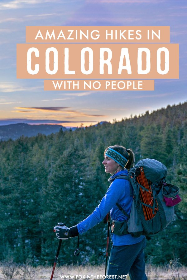 Looking for amazing hikes in Colorado with no people? Colorado has some of the best uncrowded hikes in the USA, so if you're looking for a peaceful trail, you're bound to find it on this post in which I round up the best uncrowded hikes in Colorado, all of which are near Denver! #Colorado #Denver