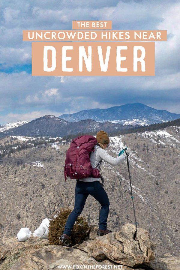 Looking for the best hikes near Devner? If you want to get off the beaten track and go on a peaceful, uncrowded hike, then this post is for you! On this guide, I share the eleven most amazing and uncrowded hiking trails near Denver, Colorado. #Denver #Colorado
