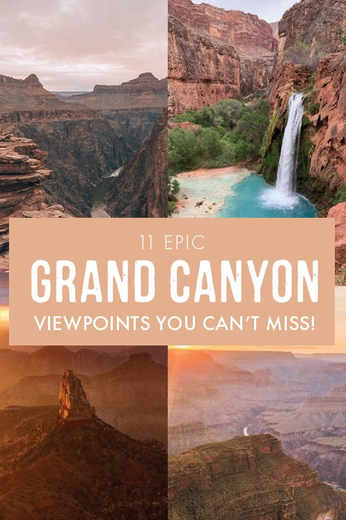 It's no secret that visiting The Grand Canyon is a must on any USA itinerary. If you're wondering where to find the best views at the most amazing national park in Arizona, this post covers the 11 most epic viewpoints in the Grand Canyon that you can't miss! #Arizona #USA
