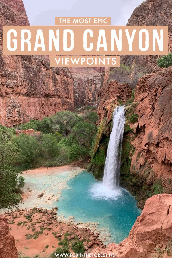 Wondering where to find the most epic viewpoints of the Grand Canyon? On this travel guide, I share the most scenic hikes and spots to get the best views the Grand Canyon has to offer, including the north and the south, Havasupai, and more! #Arizona #USA