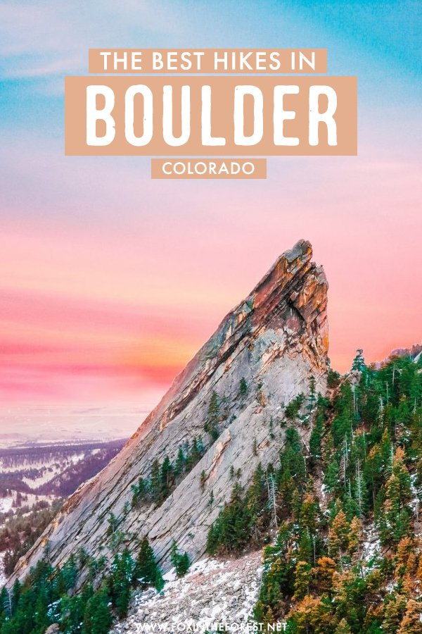 Looking for a perfect outdoor getaway from Denver? If you're looking for beautiful scenery and hiking trails, Boulder is the perfect Colorado weekend destination! On this post, I share the best hikes near Boulder, Colorado that you can't miss! #Colorado #Boulder