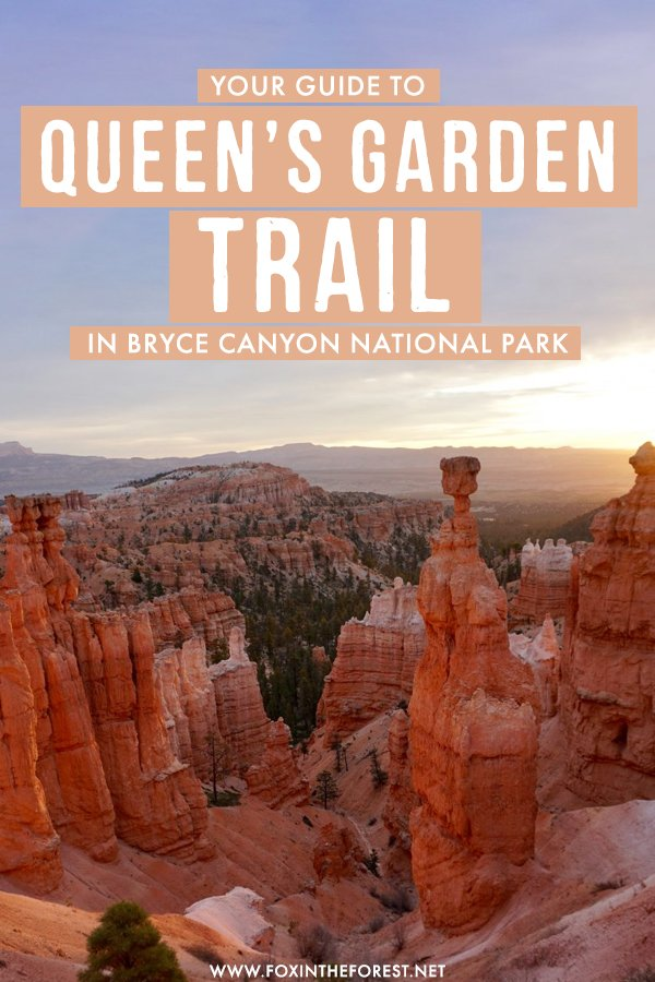 Planning a trip to Bryce Canyon National Park in Utah? Bryce Canyon is a must on any Utah itinerary, so if you're headed there and plan on hiking, here's everything you need to know about the best hiking trail in Bryce Canyon National Park: The Queen's Garden Trail! #Utah #USA