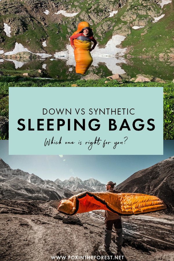 Wondering whether to buy a down or a synthetic sleeping bag? If you're currently on the market for a new sleeping bag for your outdoor adventures, there are so many things to consider, including  choosing the right type of sleeping bag for your trip, as well as temperatures and additional features. Lucikly, I'm an outdoor gear reviewer and I have all the inside scoops and tips on choosing the right sleeping bag for you!