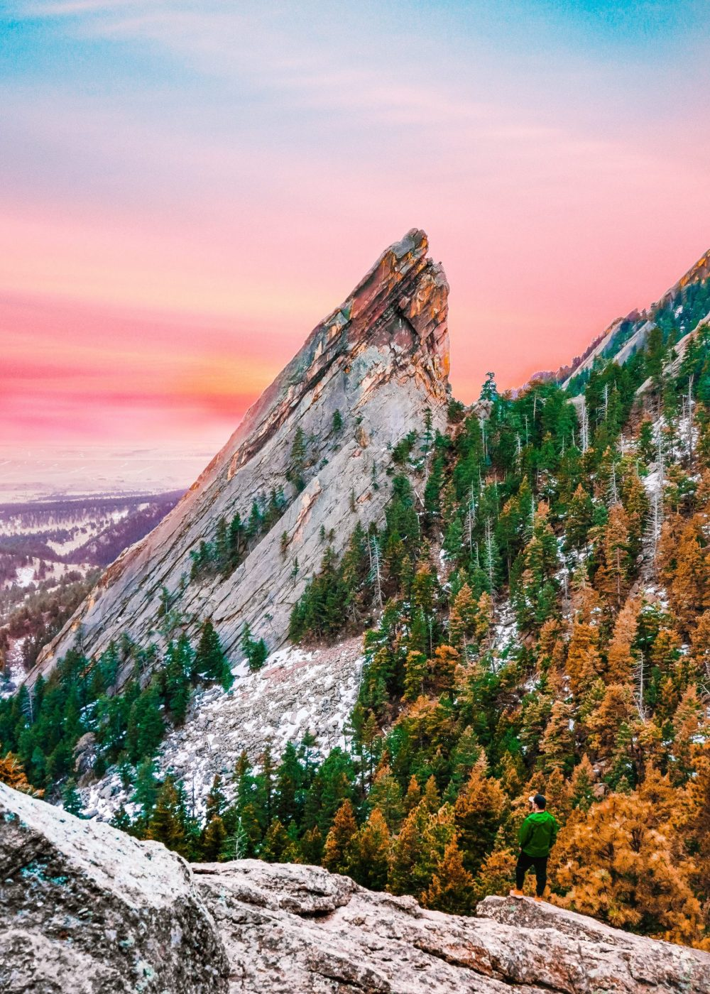 Boulder flatirons hike