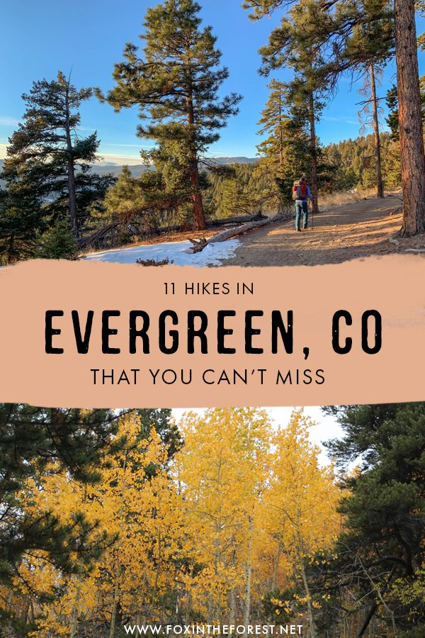 Wondering what are the best hikes in Evergreen, Colorado? From snow trails to moderate hikes, these are the most amazing hikes in Evergreen, Colorado that you can't miss! #Colorado #USA