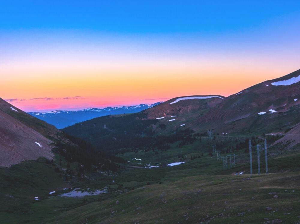 Sunset on Mount Sherman in Colorado.