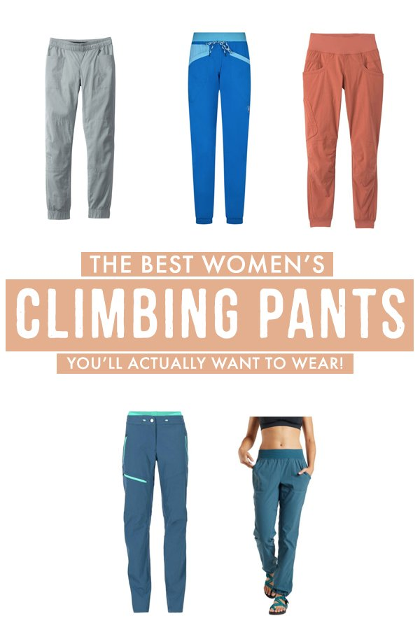 On the lookout for cute, yet functional women's climbing pants? If you're tired of searching and comparing, this gear guide is the only thing you need to choose the best women's climbing pants that are actually functional! #Outdoors #Climbing