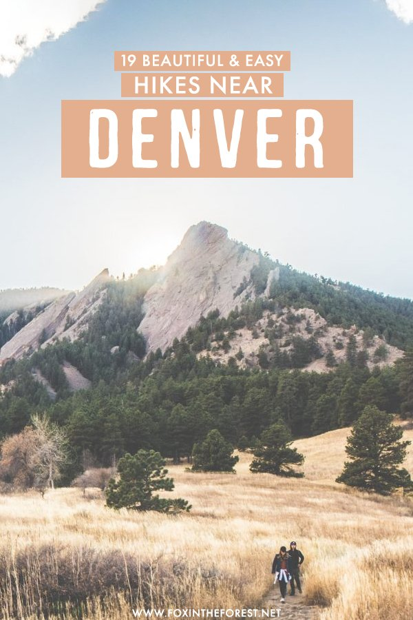 Looking for beautiful and easy hikes near Denver? If you need a getaway from Denver to go into nature but don't necessarily want to do a 14 tier, here are the most beautiful and easy going hikes near Denver, Colorado that you'll love! #Denver #Colorado