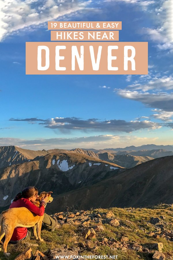 Looking for amazing, but easy hikes in Denver? If you're a beginner hiker, these are the 19 most beautiful and easy hikes near Denver that you can't miss! #Denver #Colorado