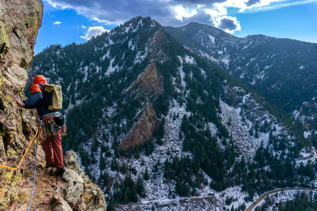 rock climbing in eldorado canyon