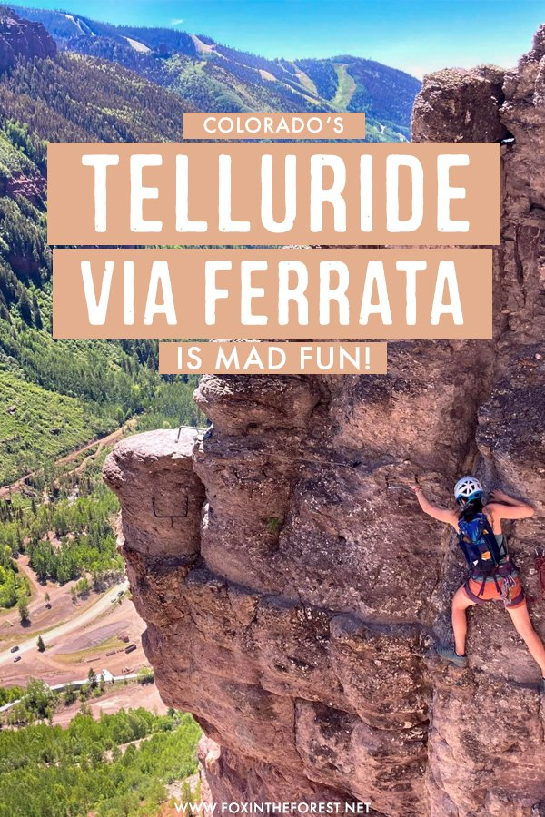 The ultimate guide to Telluride Via Ferrata in Colorado! This is one of the funnest summer activities in Colorado for outdoor lovers and on this guide, I share everything you need to know to do the Telluride Via Ferrata! #Colorado
