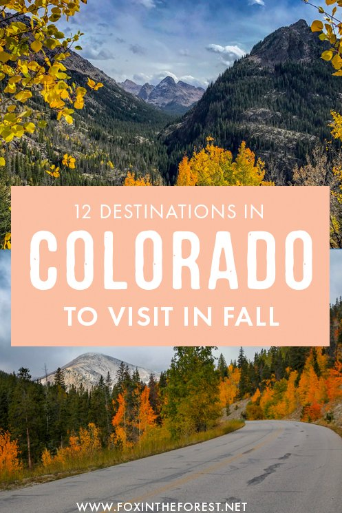Wondering where to go in Fall in Colorado? Colorado is an amazing fall destination because it's one of the best places in the USA to see fall foliage. If you're on the lookout for a perfect Colorado Fall getaway, here are some destinations you can't miss in Autumn! #Colorado #USA