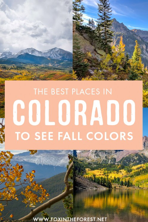 Wondering where to see fall colors in Colorado? Colorado is one of the best Autumn destinations in the USA, so on this post, I rounded up some of the most gorgeous destinations, roads, and national parks in Colorado for a Fall getaway! #Colorado #USA