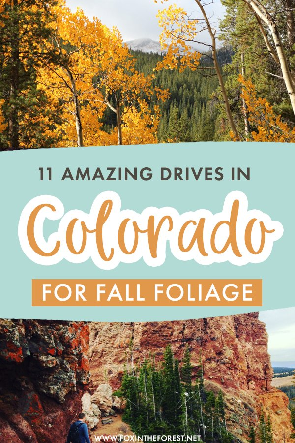 Fall is one of the best times of the year to take a Colorado road trip, so if you're on the lookout for the most scenic fall drives in Colorado, here are just a few of the most epic Colorado road trips to take in Fall! #Colorado