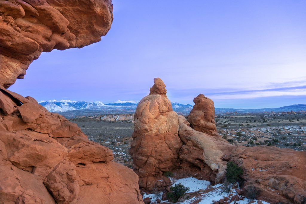 winter in moab
