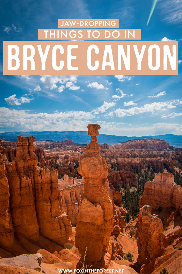 Wondering what to do in Bryce Canyon? If you're currently planning your trip to one of the best national parks in the USA, you're probably trying to find the best things to do in Bryce Canyon. On this post, I share some of my favorite activities and things to see in Bryce Canyon so you can start planning your itinerary!