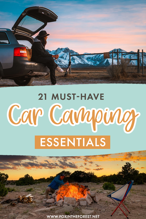 Planning your first car camping adventure? Whether you've gone car camping before or doing it for the first time, here are 21 car camping essentials that will make your car camping adventure so much easier!