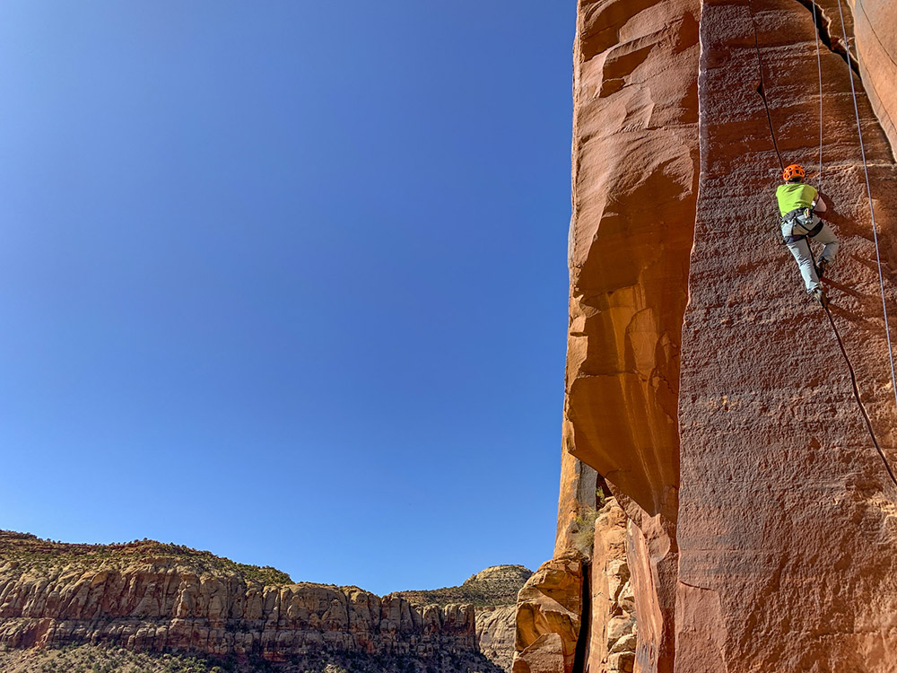 Rock climbing in Moab is a real desert adventure