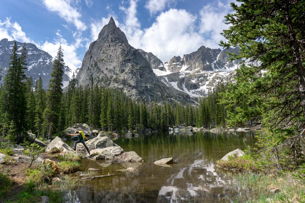 A view of Lone Eagle Peak in Colorado.