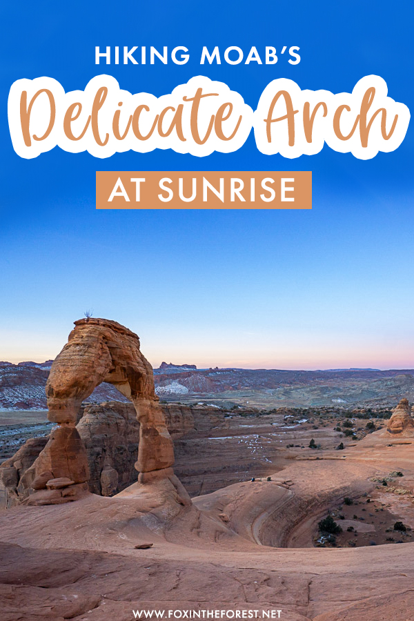Delicate Arch is one of the best hikes in Arches National Park, but if you'd rather beat the crowds of Moab, you'd love to hike Delicate Arch at sunrise! Here's everything you need to know about the Delicate Arch hike in Moab!