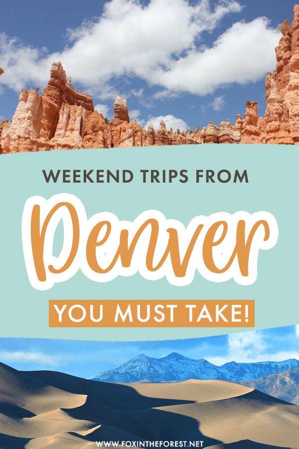 Wondering where to go near Denver? If you're into nature and killer views, here are some of the best weekend getaway ideas near Denver that you must plan for! From national parks to hidden nature gems, these are the best weekend trips to take from Denver!