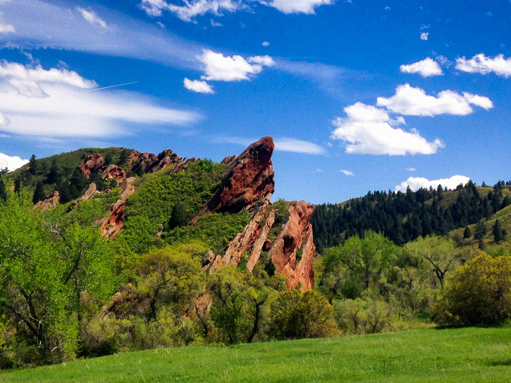 A beautiful view of Roxborough State Park.