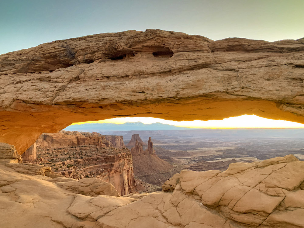 When visiting Island in the Sky Canyonlands you must photograph Mesa Arch at sunrise.
