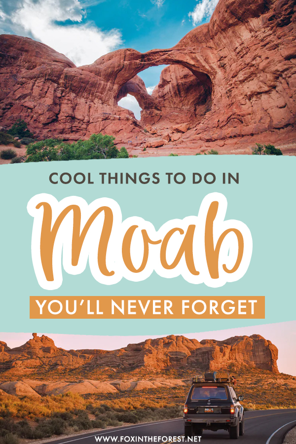 Wondering what to do in Moab? If you're planning a Moab itinerary and want to fill it up with some of the best activities and attractions Moab has to offer, here is a list of the coolest things to do in Moab, Utah that you can't miss!
