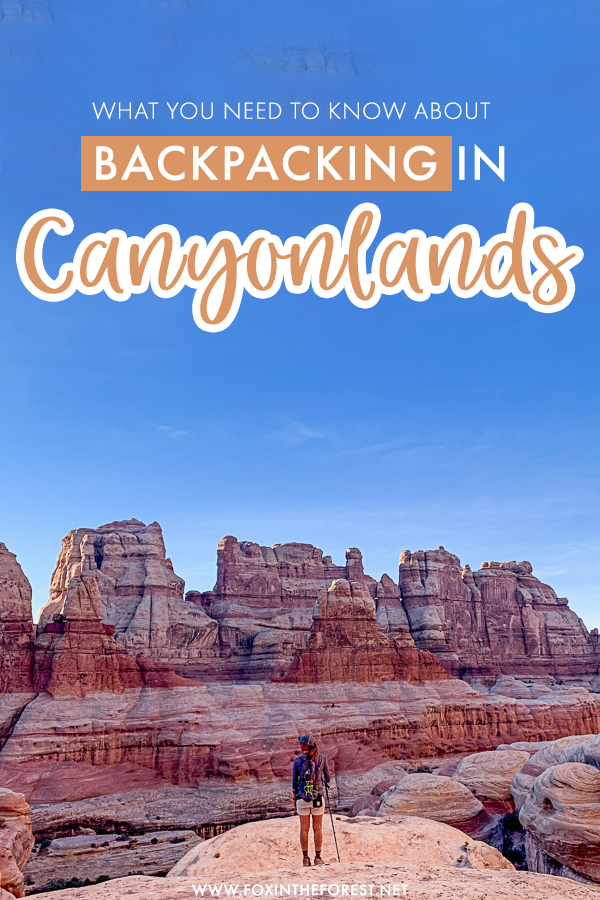 Looking for the ultimate guide to backpacking Canyonlands in Utah? If you're looking for the adventure of a lifetime in Utah, The Needles District in Canyonlands national park if one of the best backpacking destinations in Moab and Utah as a whole. Here's the ultimate guide to backpacking Canyonlands National Park!