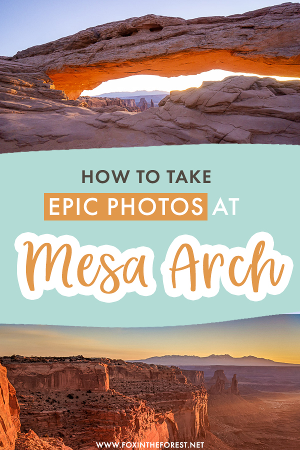 Visiting Mesa Arch soon and wondering how to take epic outdoor shots? If you want to take incredible photographs of the top attraction in Canyonlands National Park, here are my top photography tips to take epic shots of Mesa Arch at sunrise!