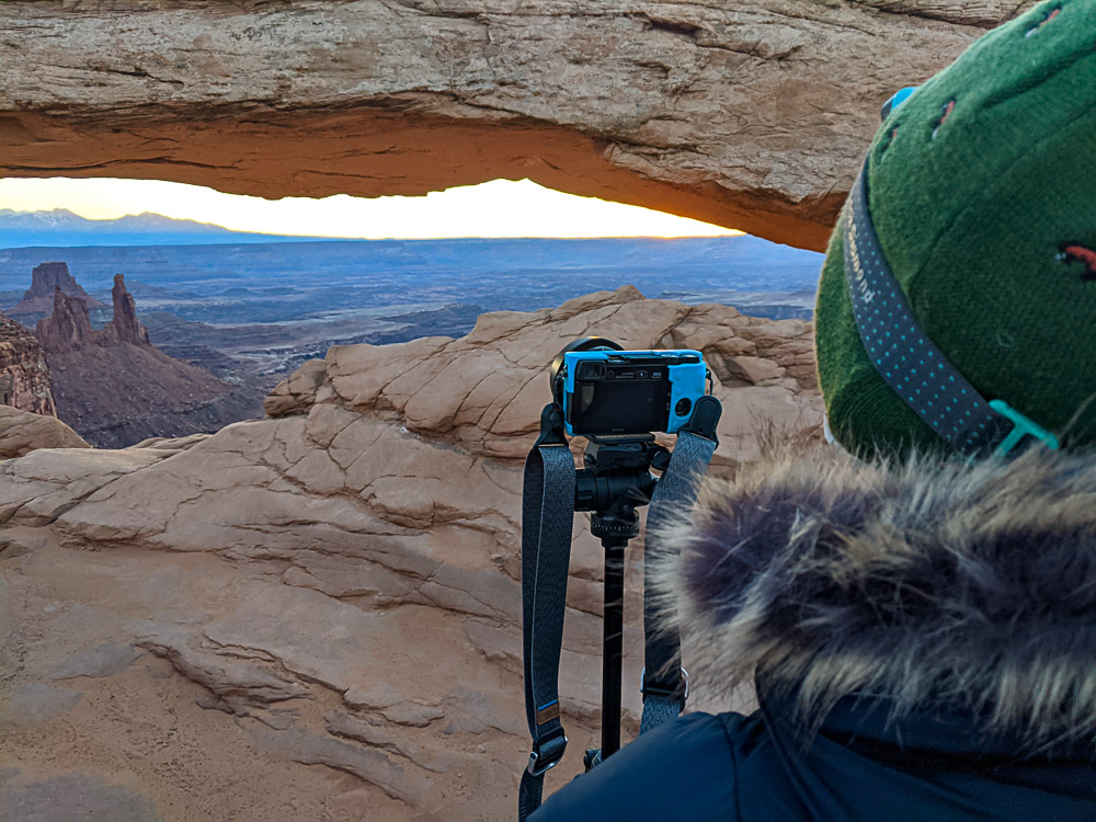 mesa arch without crowds