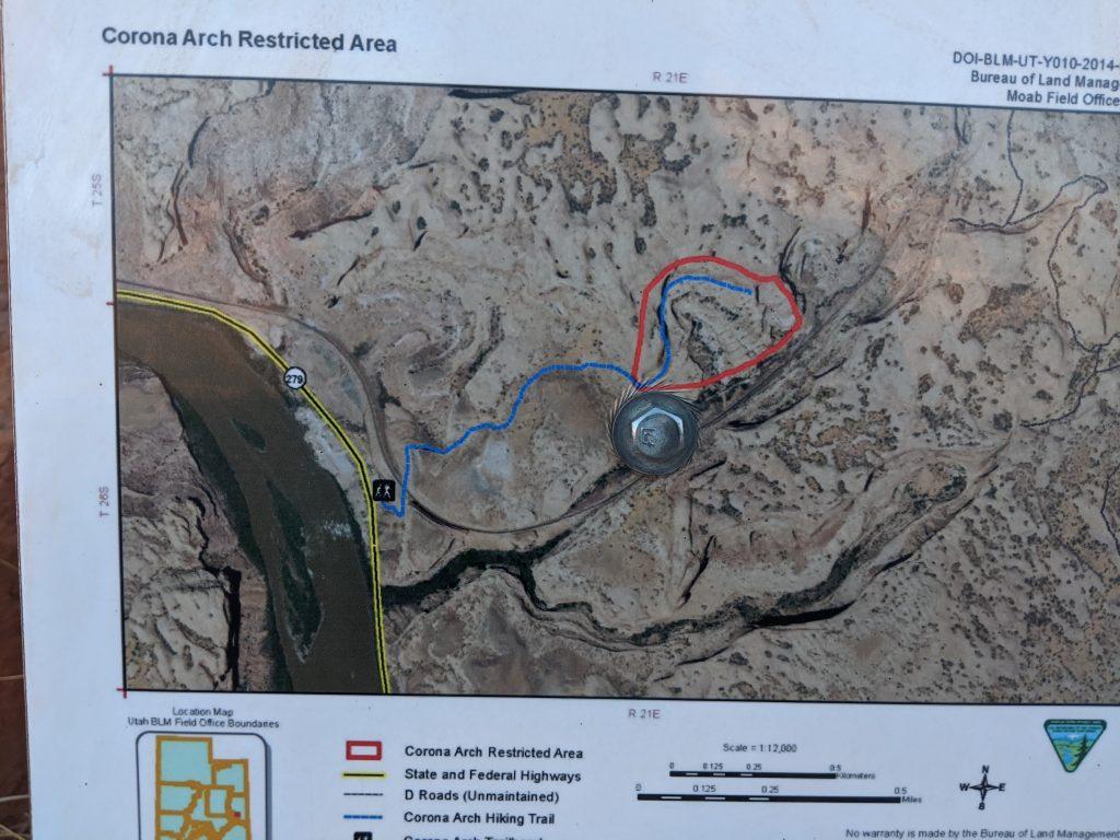 Corona Arch Map