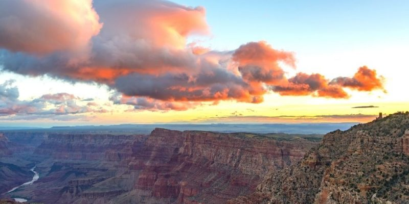 Watching the sunrise is one of the best things to do in the Grand Canyon.