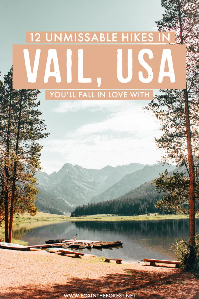 Looking for the most beautiful hikes in Vail, Colorado? If you want to find other things to do in Vail other than skiing, hiking is another of the best things to do in Vail. In this post, I share 12 of the best hikes in Vail, USA that you can't miss!