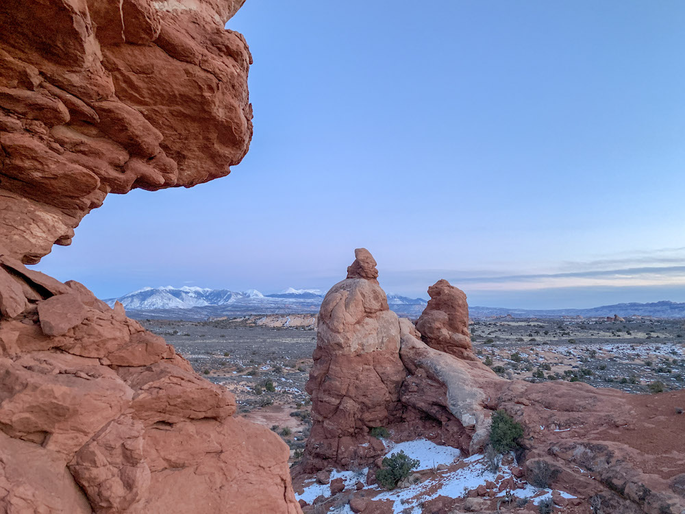 Evening view during our Arches National Park itinerary.
