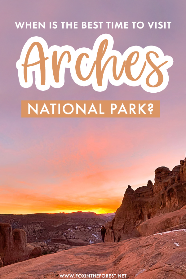 Wondering when to visit Arches? If you're currently in the planning stages of a trip to Arches and Moab in Utah, here is the best time to visit Arches, including the pros and cons of each season as well as local info to make the most out of your time in Arches National Park, Utah.