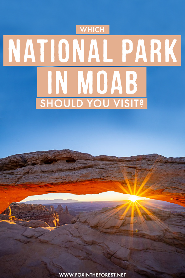 Visiting Utah and wondering whether to visit Arches or Canyonlands National Park? If you're unsure of what to do in Moab, this handy guide will help you choose the best national park in Moab for you!