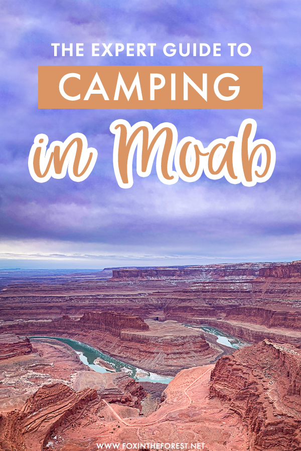 Planning a trip to Moab? If camping in Moab is on the plans, here's your ultimate guide to camping in Moab, which is one of the best things to do in Arches and Canyonlands! This camping guide to Moab for adventure lovers includes everything you need to know about BLM camping in Moab.
