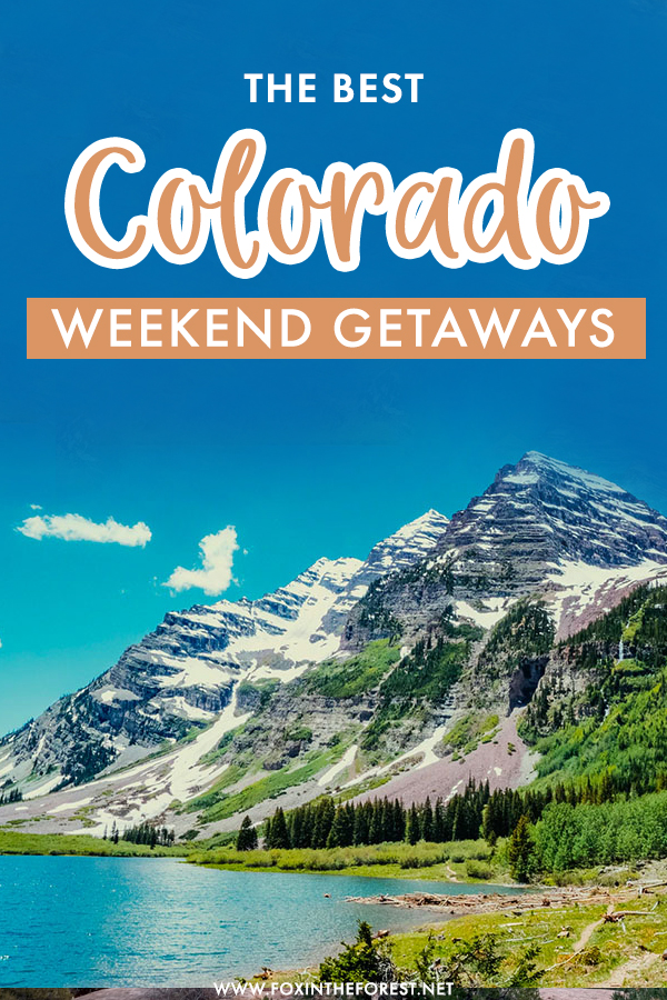 Colorado is home to some of the best USA destinations. If you're looking for the best Colorado weekend getaways, here are some of the most beautiful Colorado destinations for a relaxing vacation away in nature!