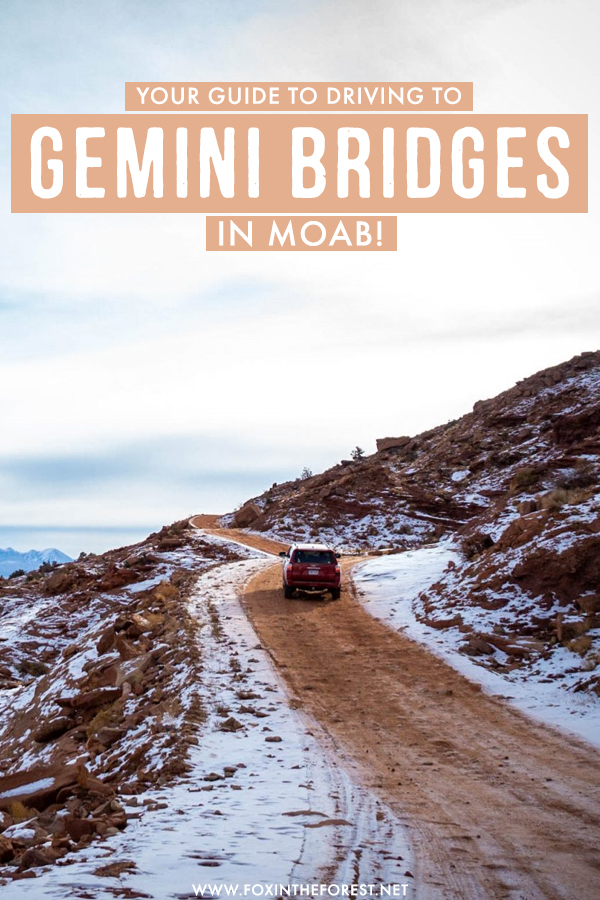 Looking for the most adventurous things to do in Moab? If you're wondering what the most scenic drives in Moab are, the Gemini Bridges drive is one of the best things to do in Moab that must be in your itinerary!