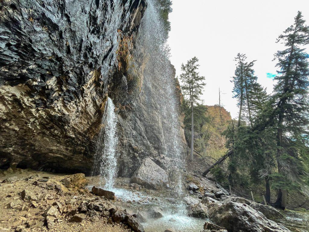 spouting rock waterfall