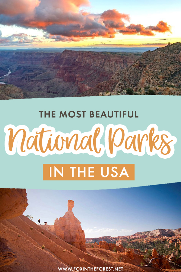 Is exploring more national parks in your bucket list? If you're excited to start planning your next USA adventure, but not sure where to go next, here is a super inspirational list of the most beautiful national parks in the USA!