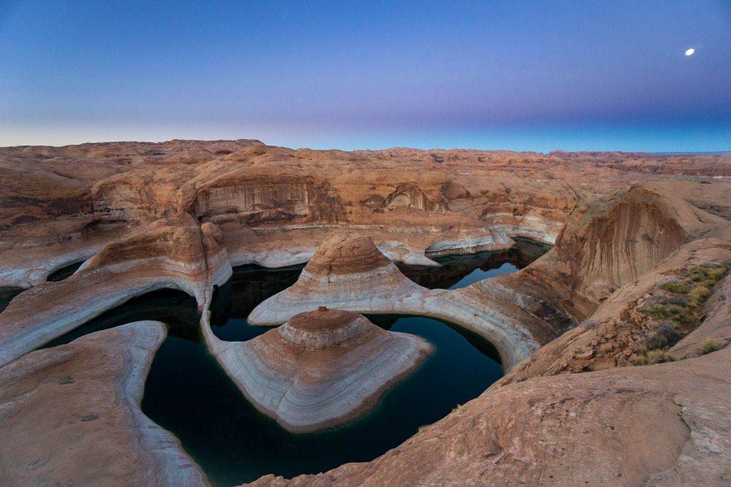 reflection canyon utah sunset