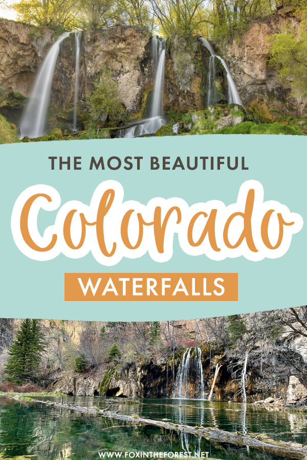 Colorado is home to several beautiful waterfalls that you'll definitely want to see! If you're wondering where to go in Colorado, these are the most beautiful waterfalls you should definitely check out on your Colorado itinerary!