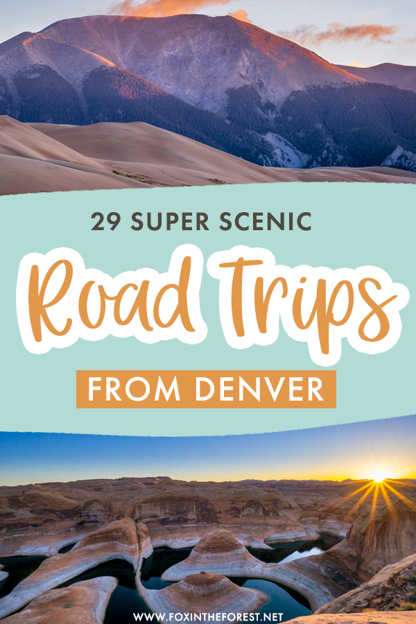 Wondering where to go near Denver? Whether you're looking for a long road trip or a quick getaway in nature, there are plenty of incredible road trips with kickass destinations near Denver! On this post, I share 29 of my favorite Denver road trips to inspire you to hit the road!