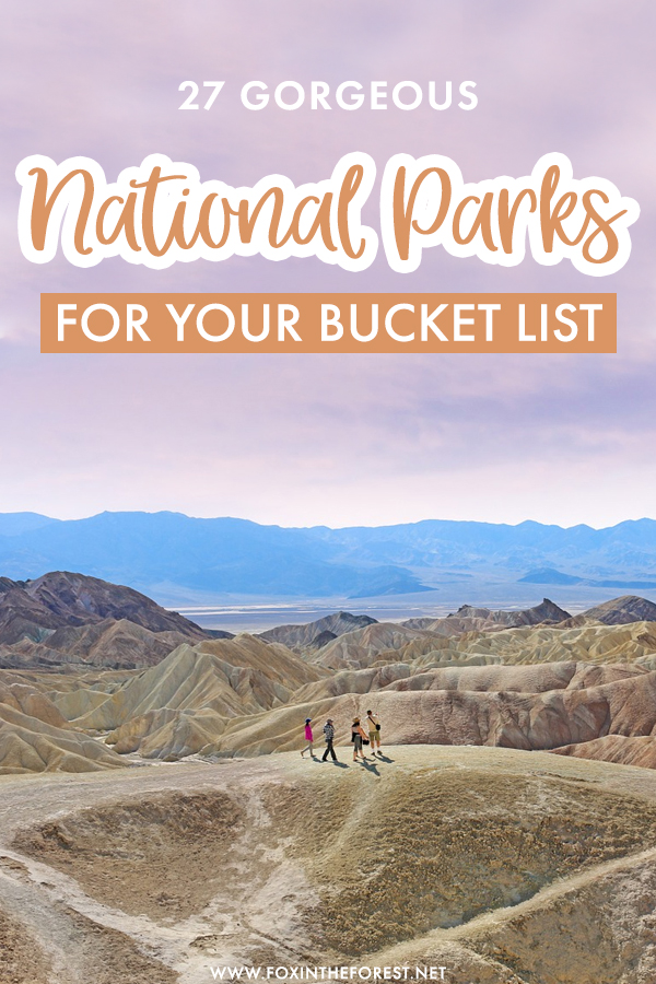 Looking for bucket list travel ideas? If you're keen to explore a few more national parks in the US, but not sure where to go next, here is a list of the most gorgeous national parks in the USA that you have to visit at least once!