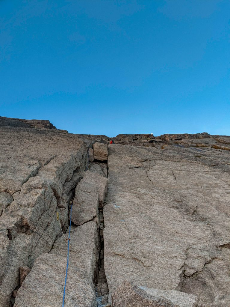 Longs Peak cable route