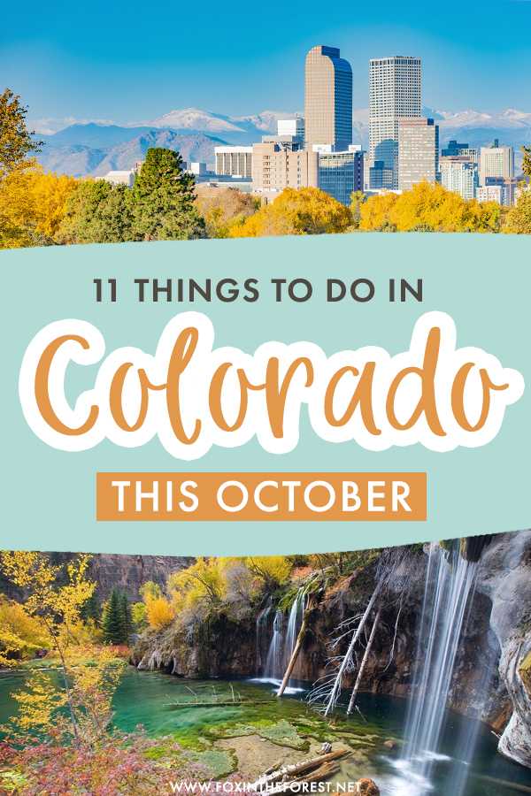 Wondering what to do in Colorado this October? If you're visiting Colorado in October, here are some of the best, fall-themed activities and places to visit in Colorado in October!
